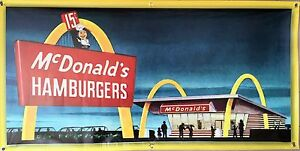 MCDONALDS-DRIVE-IN-HAMBURGER-RESTAURANT-WALL-ART-BANNER-MURAL-VINTAGE-AD-2-X-4