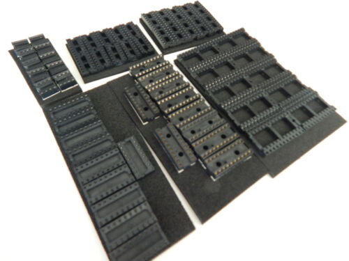 10 PIECES EACH 8,14,16,18,20,24 PIN DIP IC SOCKETS USA SELLER FAST SHIPPING