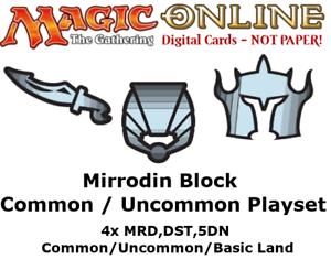 MTGO Magic Online Alara Block 4xCommon//Uncommon//Land Playset ALA CON ARB