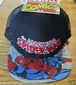 The Amazing Spider-man Child Kid Adjustable Hat Marvel Comics Brand New Kids' Clothing, Shoes & Accs Red