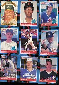 Details About 1988 Donruss Baseball Complete Set 1 660 Stan Musial Puzzle Bonus Cards 1 26