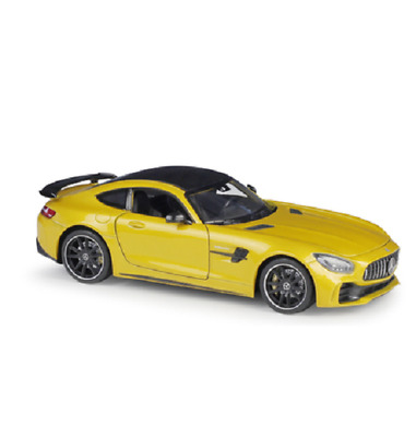 Welly 1 24 Mercedes Benz Amg Gt R Gtr Diecast Model Racing Car New In Box Yellow Ebay