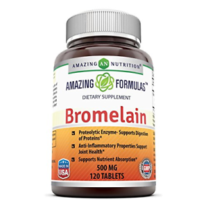 Amazing Nutrition Bromelain Proteolytic Digestive Enzymes Supplements, 500 mg,