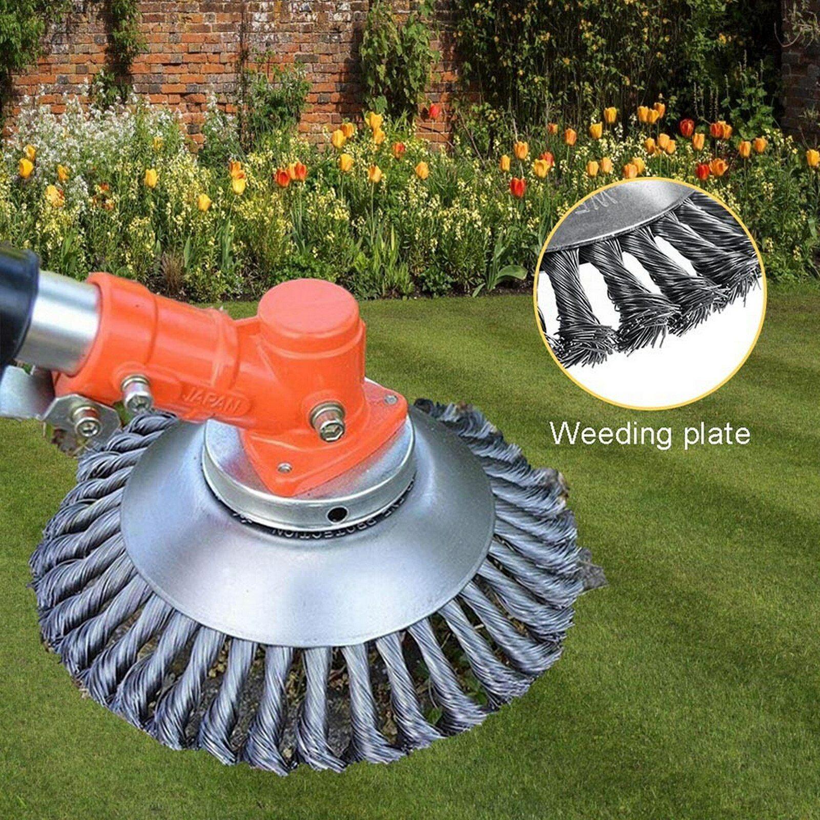 New 6 Inch Steel Wire Wheel Brush Grass Trimmer Head Weed Cleaning Garden Farm