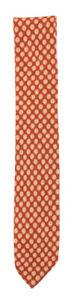"Finamore Napoli Orange Foulard Silk Tie - 3"" x 61.5"" - (9N)"