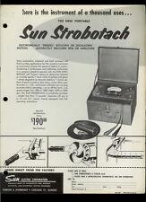 Rare Vintage Orig Sun Electric Strobotach RPM Measuring Tester Dealer Sheet Page
