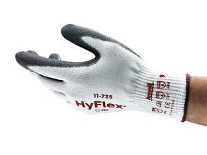 Ansell Hyflex 11-735 INTERCEPT™ Flexible Cut 5 Resistant PU Palm Coated Gloves