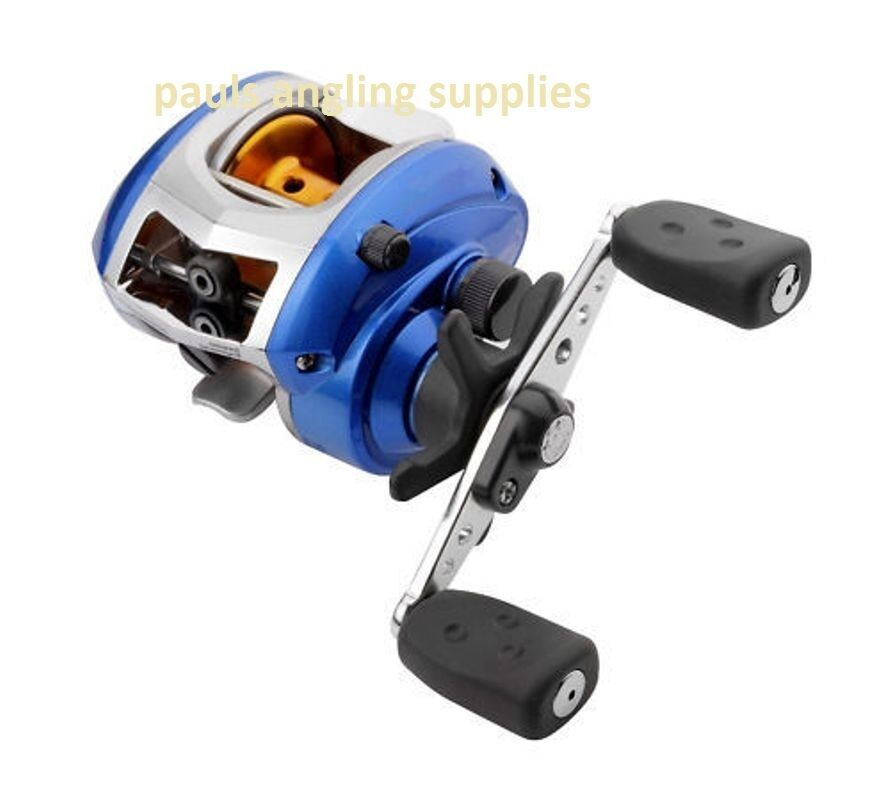 ABU blueE MAX LEFT HAND WIND BAIT CASTING FISHING REEL