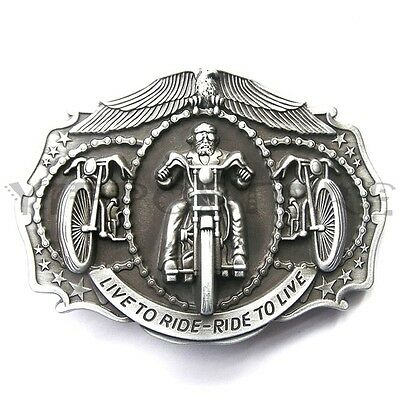Original Live To Ride Motorcycle Biker Metal Fashion Belt Buckle