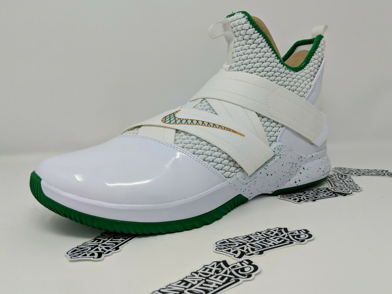 Nike LeBron Soldier XII 12 SVSM St Vincent Mary Home White Green AO2609-100