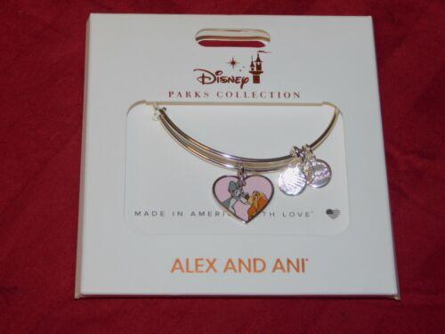 Disney Parks ALEX /& ANI Bracelet LADY AND THE TRAMP Silver Tone Bangle NEW