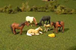 Bachmann Train Horses (6Pcs/Pk) 33169