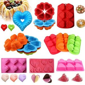 Heart-Shape-Silicone-Cake-Mold-Pan-Muffin-Chocolate-Pastry-Baking-Tray-Mould