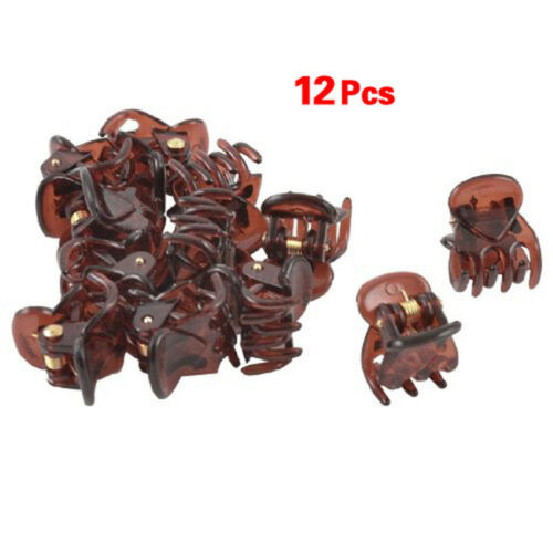 12Pcs Mini Plastic Hair Claw Clamps Clips Grips Style Fashion Accessories