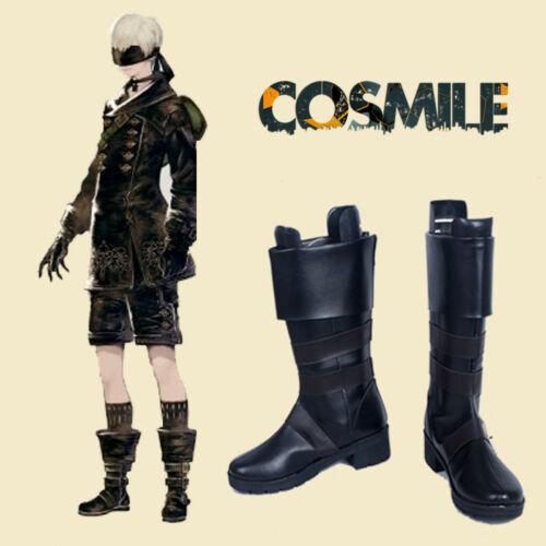 NieR Automata 9S YoRHa No 9 Type S Shota Boot Shoes Cosplay Sa