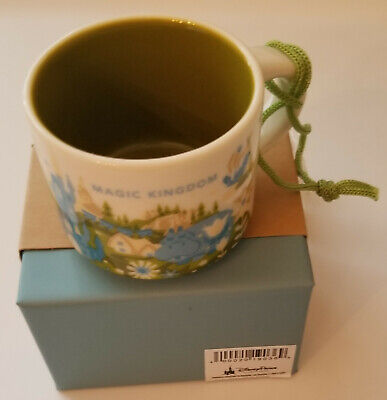 New Disney World Parks Starbucks Magic Kingdom Mug Ornament YOU ARE HERE