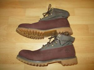 6141R-Timberland-boots-Roll-Top-Anti-Fatigue-Plaid-Panel-size-11-5
