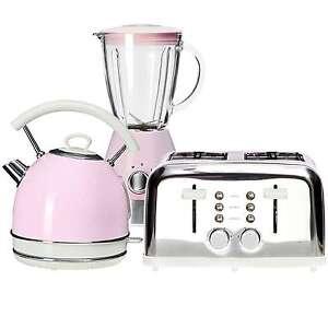 Pastel Pink Kettle And 4 Slice Toaster Kitchen Vintage Aid