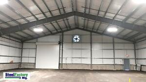 Steel-Factory-Mfg-50x70x16-Metal-Frame-I-beam-Workshop-Storage-Garage-Building
