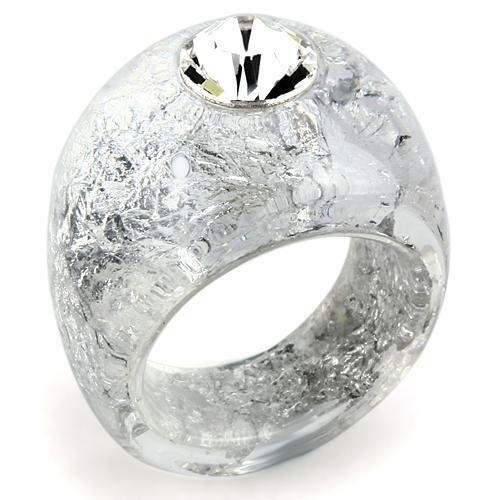 Free USA shipping! Jewelry women lucite resin plastic ring.Size 7,8,9,10