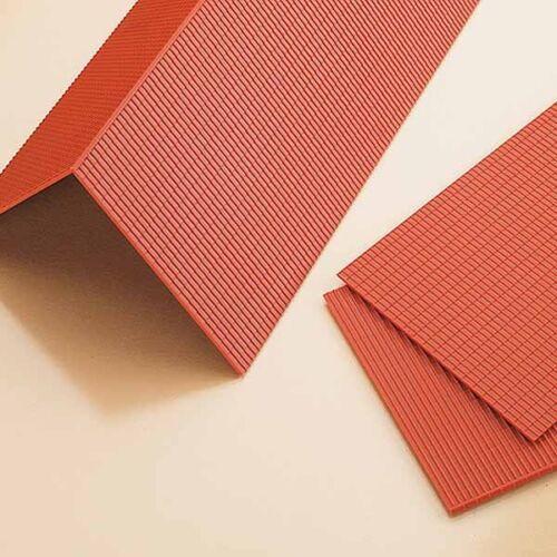 h0//1:87//1:100 4 panneaux de toit rouge Auhagen 41611