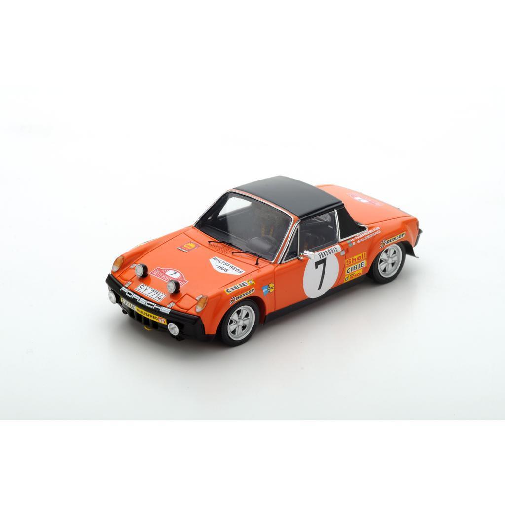 S5582 Spark: 1/43 Porsche 914/6  7 3rd PL. Monte Carlo Rally 1971 B. Waldegård