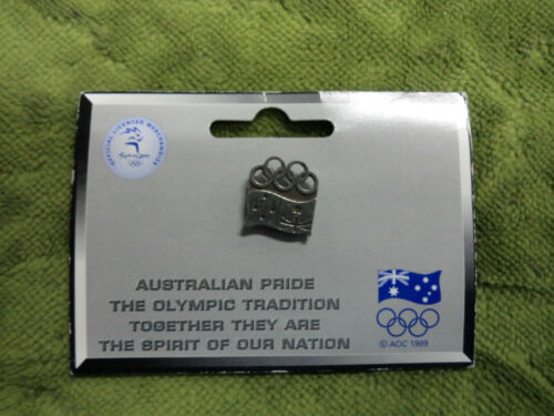 #P257. SYDNEY 2000 OLYMPIC PIN PEWTER, FLAG