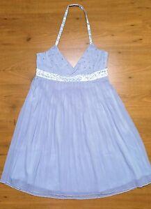 Dress Designer amp; Club Star Wedding Pleated Back Cube Open Party Halter Neck 68FEEwq1