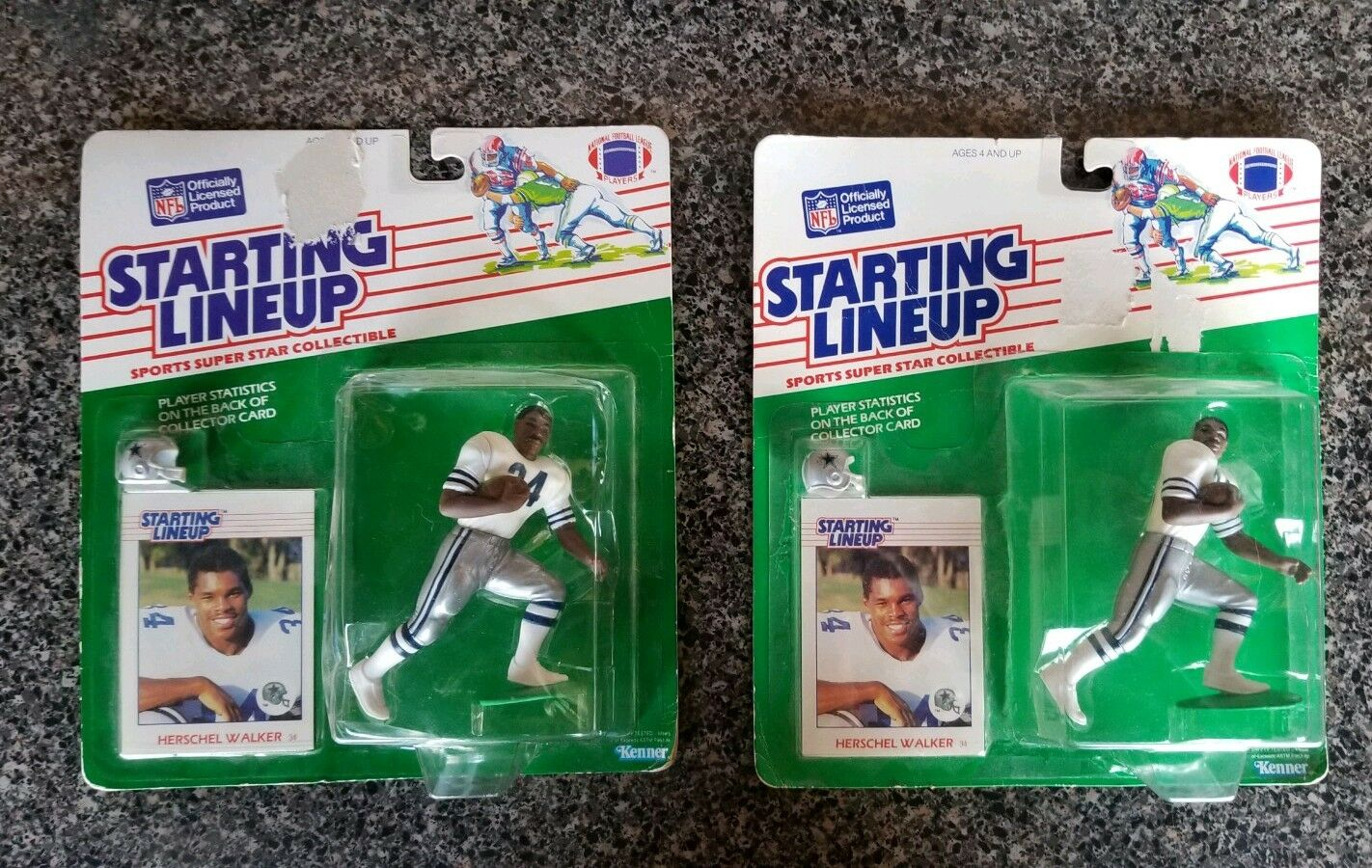 SLU Hershel Walker SLU 1988 MoC Pair Dallas Cowboys