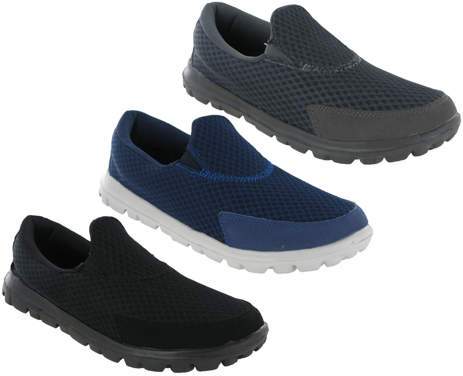 Ascot Soft Super Lightweight Mens Casual Soft Ascot Cushioned Go Walking Mesh Leisure Shoes 28276e