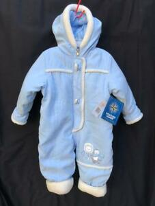 Weather-Tamer-Snowsuit-18M-Toddler-Girl-Boy-Hood-Blue-Padded-1-Pc-Winter-Sherpa