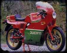 Ducati 900 Mhr 83 2 A4 Photo Print Motorbike Vintage Aged