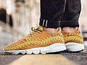 san francisco a3d02 e14cb Nike Air Footscape Woven Chukka NM Gold Flax Wheat Gum Brown White ...
