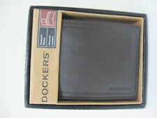 NEW ARRIVAL! DOCKERS MEN'S BROWN GENUINE LEATHER BILLFOLD PASSCASE WALLET SALE