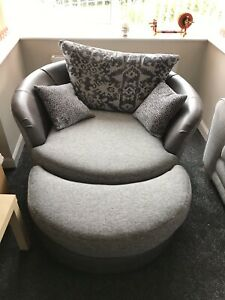 Dfs Large Swivel Chair Sofa With
