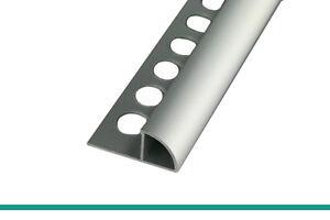1 X 2,5m Profilé Pour Carrelage 6mm Aluminium Argent Pâle Profilé Quart De Rond