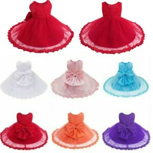 Girl Princess Dress Flower Baby Wedding Birthday Gown Christening Party Dresses