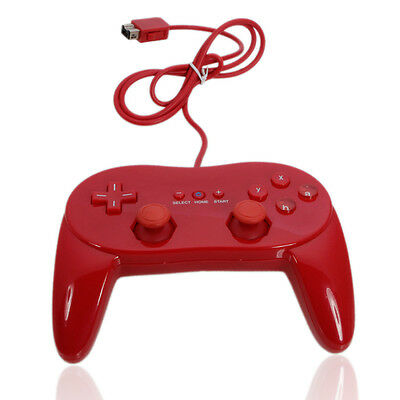 New Professional 2nd Classic Remote Controller for Nintendo Wii Red