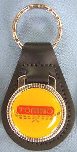 Image Is Loading Vintage Yellow Ford Torino Leather Usa Keyring Key