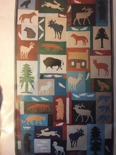 """HOME ON THE RANGE"" 1990 APPLIQUÉ QUILT CRITTER PATTERN WORKS KONCHINSKY UC"