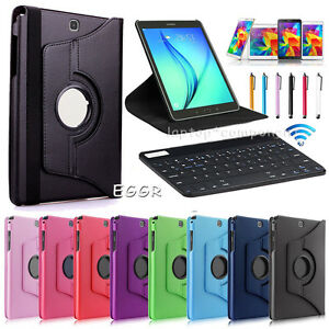 Bluetooth-Keyboard-Rotating-Folio-Case-Cover-Gift-For-Samsung-Galaxy-Tab-Tablet