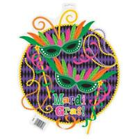 Mardi Gras Party 16.5 Cut Out Decoration Decor Double Sided