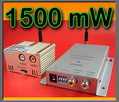 Compiacente Trasmettitore Tx+rx Alta Potenza Audio/video 1500mw 5km
