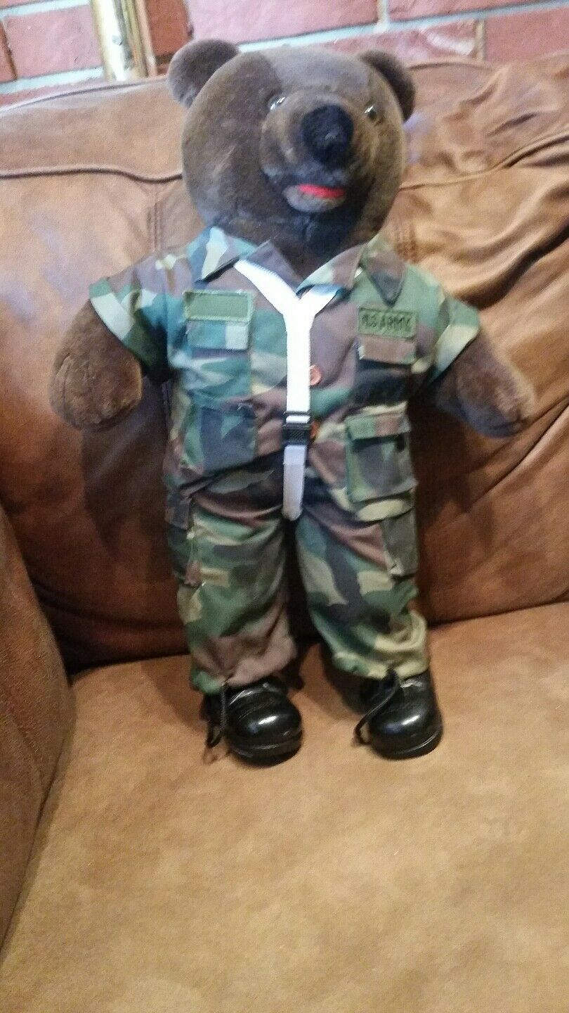 Army Teddy Bear stuffed animal Bear Force of America collectible military salute