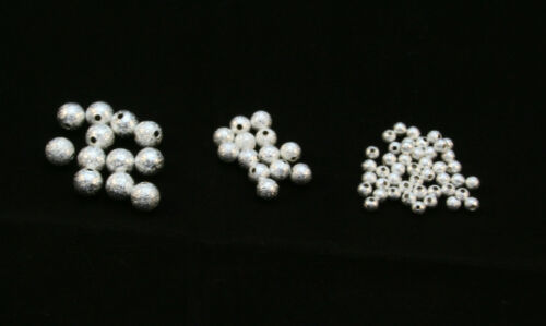 6mm /&8mm Bright Star Dust Brass Beads in Silver or Gold 4mm