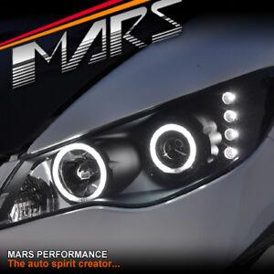 Black-LED-amp-CCFL-Angel-Eyes-Projector-Head-Lights-for-CIVIC-FD-06-12-Sedan-JDM