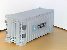 LEGO MAERSK LINE TRAIN SHIP SHIPPING CONTAINER LIGHT GREY