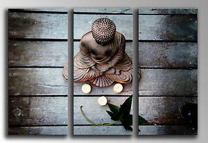 Cuadro Moderno Fotografico base madera, 87 x 62 cm, Buda Buddha, ref. 26141