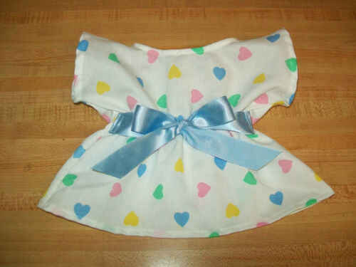 "VALENTINE PASTEL HEART DRESS W// PINK or BLUE SASH for 16/"" CPK Cabbage Patch Kids"