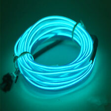 New 1M 3.3ft Blue El Wire Neon LED Light String Strip Rope Tube USB Controller